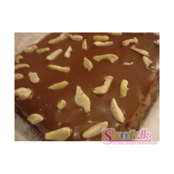 Date Cake Topped With Nuts