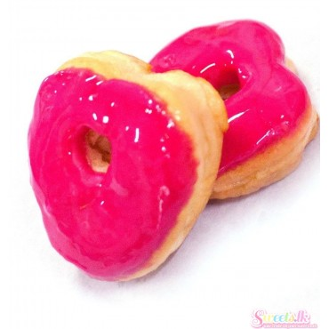 Hotpink Love Donut  (6 pcs pack)