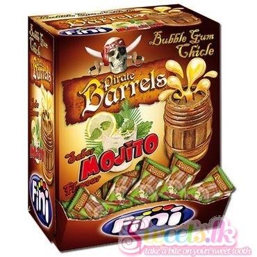 Fini Pirate Barrel Mojito Bubble Gum 200pcs Pack
