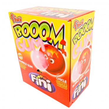 Fini Boom Strawberry Bubble Gum  200pcs Pack
