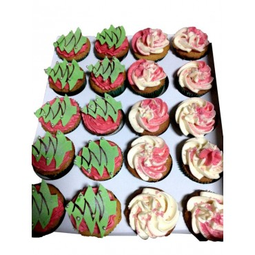 Christmas Decorated Cupcakes 6pcs