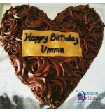 Heart Shape Dark Chocolate Cake (1kg)