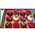 Customized  Vanilla/Chocolate Cupcakes (12pcs)