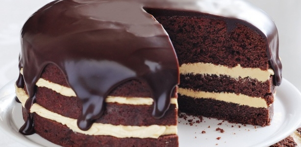 Rich peanut butter and chocolate cake